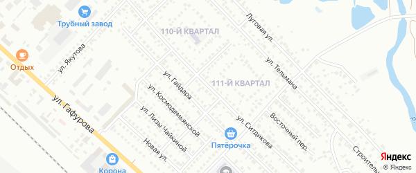 Улица Ситдикова на карте Туймаз с номерами домов