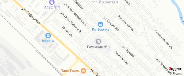 Зеленая улица на карте Туймаз с номерами домов