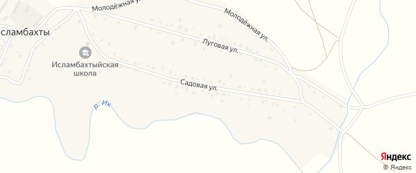Садовая улица на карте села Исламбахты с номерами домов