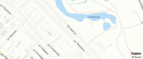 Луговая улица на карте Туймаз с номерами домов