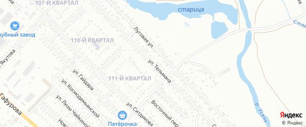 Улица Тельмана на карте Туймаз с номерами домов