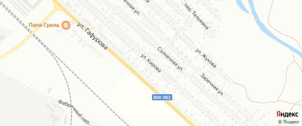 Улица Кирова на карте Туймаз с номерами домов