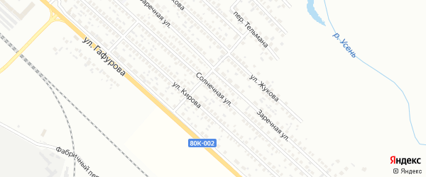 Солнечная улица на карте Туймаз с номерами домов