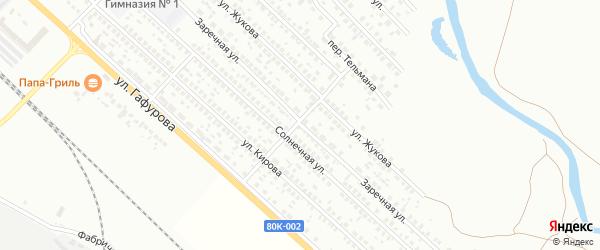 Заречная 1-я улица на карте Туймаз с номерами домов
