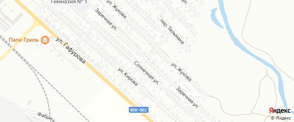 Заречная улица на карте Туймаз с номерами домов