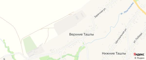 Нагорная улица на карте села Верхние Ташлы с номерами домов