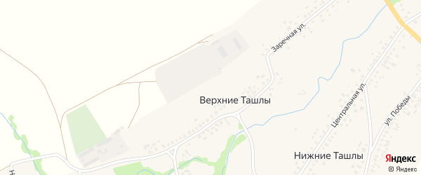 Улица им 70-летия Башкирии на карте села Верхние Ташлы с номерами домов