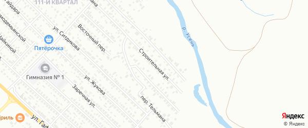 Строительная улица на карте Туймаз с номерами домов
