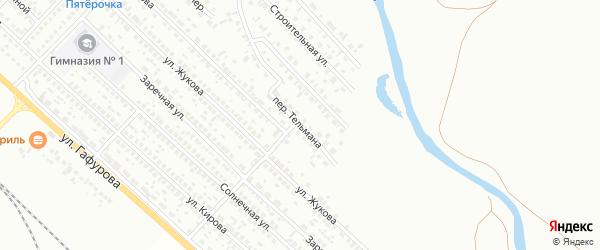 Переулок Тельмана на карте Туймаз с номерами домов
