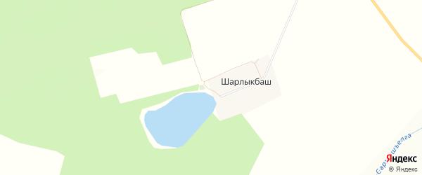 Карта деревни Шарлыкбаша в Башкортостане с улицами и номерами домов