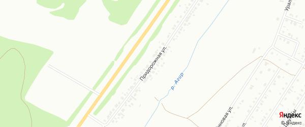 Придорожная улица на карте села Агиртамака с номерами домов