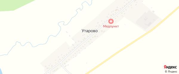 Улица Мира на карте села Утарово с номерами домов