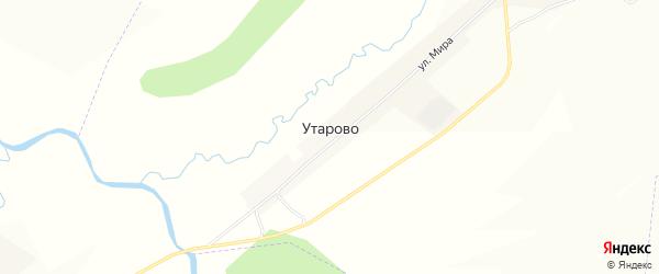 Карта села Утарово в Башкортостане с улицами и номерами домов