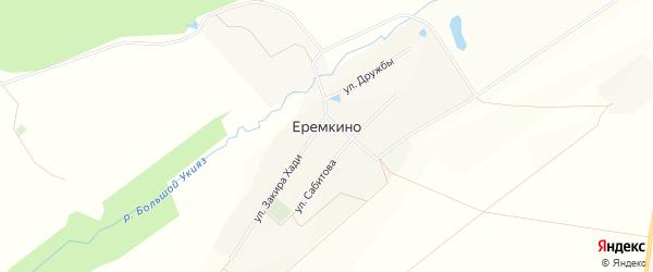 Карта села Еремкино в Башкортостане с улицами и номерами домов