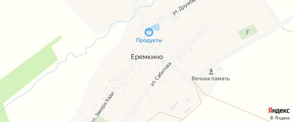 Улица Салиха Сабитова на карте села Еремкино с номерами домов