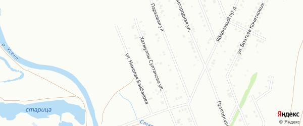 Улица Хатмуллы Султанова на карте Туймаз с номерами домов