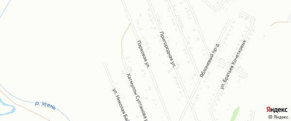 Парковая улица на карте Туймаз с номерами домов