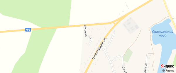 Луговая улица на карте села Серафимовский с номерами домов