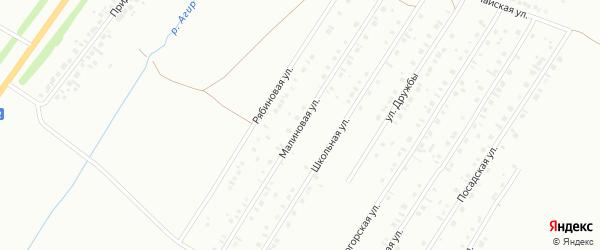 Малиновая улица на карте Туймаз с номерами домов