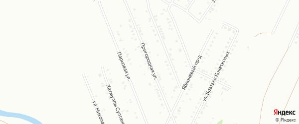 Пригородная улица на карте Туймаз с номерами домов
