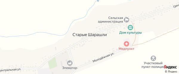 Полевая улица на карте села Старые Шарашли с номерами домов