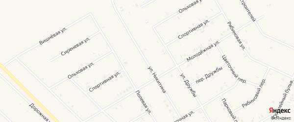 Улица Никитина на карте села Бакалы с номерами домов