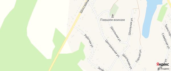 Рабочая улица на карте села Серафимовский с номерами домов