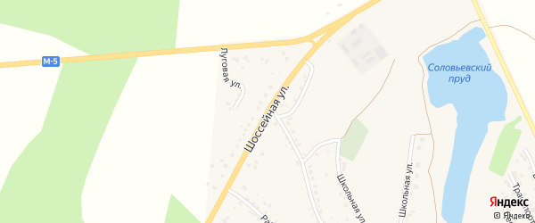 Шоссейная улица на карте села Серафимовский с номерами домов