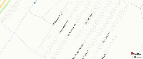 Школьная улица на карте Туймаз с номерами домов