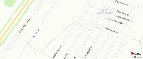Рябиновая улица на карте Туймаз с номерами домов