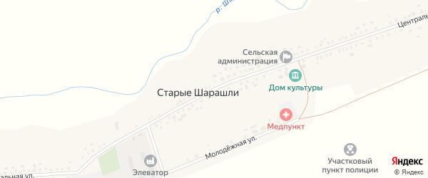 Центральная улица на карте села Старые Шарашли с номерами домов