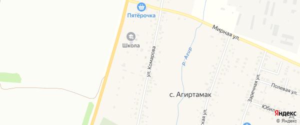 Улица Комарова на карте села Агиртамака с номерами домов