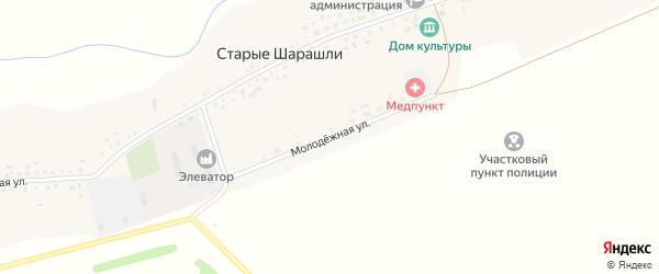 Молодежная улица на карте села Старые Шарашли с номерами домов