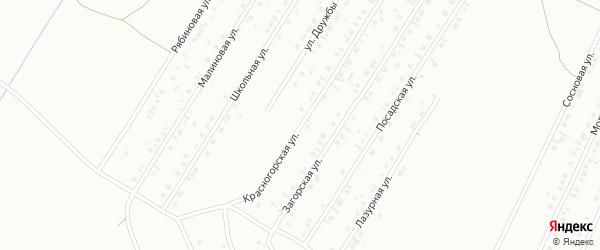 Красногорская улица на карте Туймаз с номерами домов