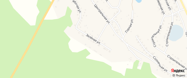 Зеленая улица на карте села Серафимовский с номерами домов