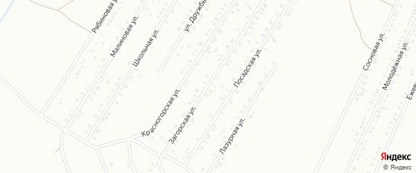 Загорская улица на карте Туймаз с номерами домов