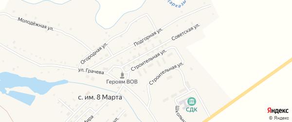 Советская улица на карте села имени 8 Марты с номерами домов