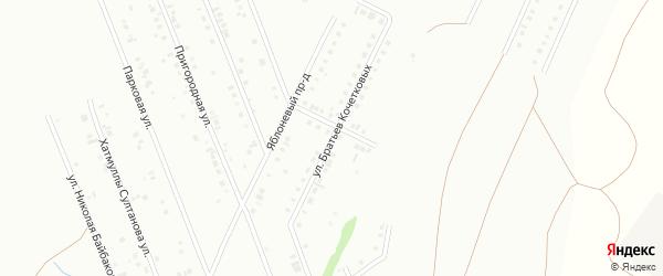 Улица Братьев Кочетковых на карте Туймаз с номерами домов