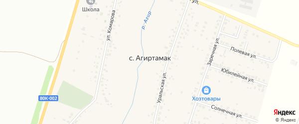 Мирный переулок на карте села Агиртамака с номерами домов