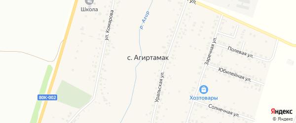 Сосновая улица на карте села Агиртамака с номерами домов