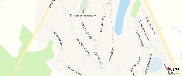 Школьная улица на карте села Серафимовский с номерами домов