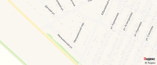 Мелькенский переулок на карте села Бакалы с номерами домов