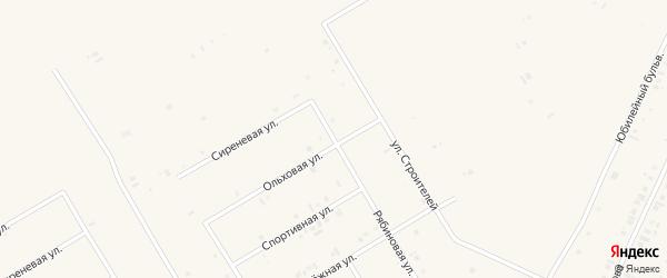 Рябиновая улица на карте села Бакалы с номерами домов