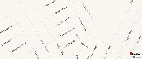 Молодежная улица на карте села Бакалы с номерами домов