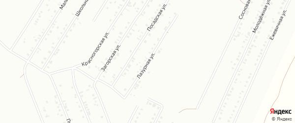 Лазурная улица на карте Туймаз с номерами домов