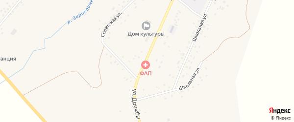 Мостовая улица на карте села Зириклы с номерами домов