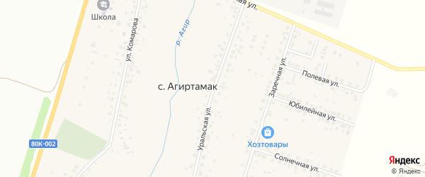 Уральская улица на карте Туймаз с номерами домов