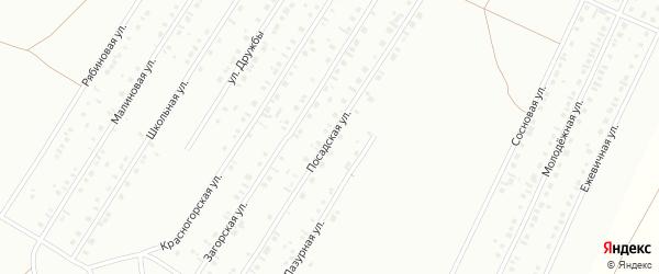 Посадская улица на карте Туймаз с номерами домов
