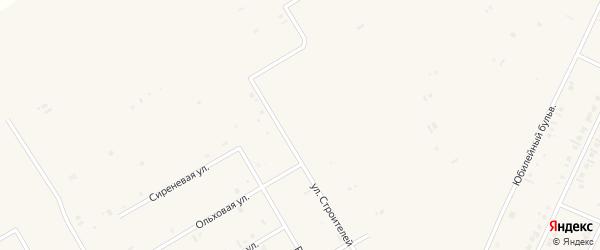 Улица Строителей на карте села Бакалы с номерами домов