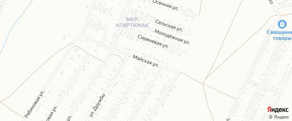Майская улица на карте Туймаз с номерами домов